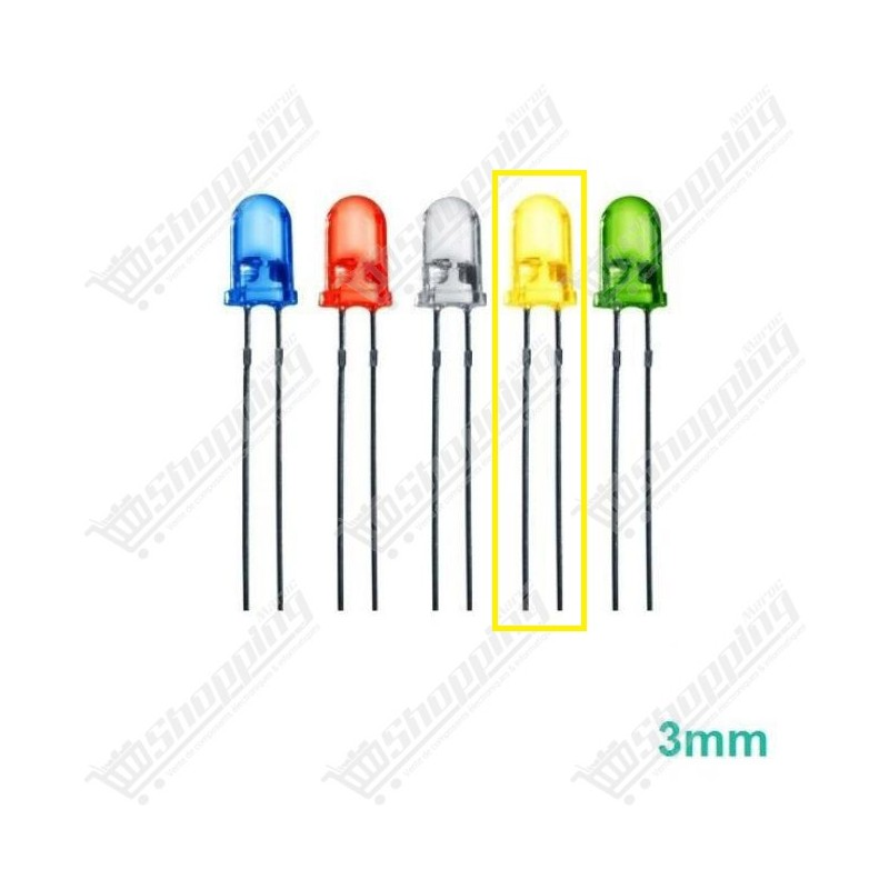 Led 3mm Round rouge-verte-bleu-jaune diode F3