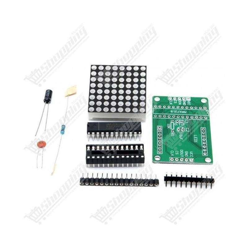 Kit MAX7219 dip rouge matrice 8x8 diy module