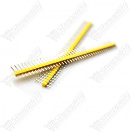 Header connecteur jaune 2.54mm 1x40 pin simple ligne mâle