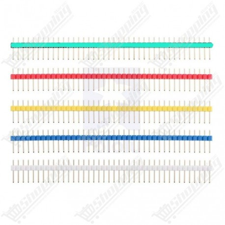 Header connecteur blanc 2.54mm 1x40 pin simple ligne mâle