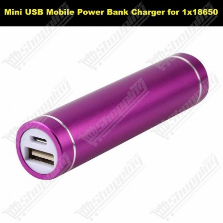 Mini USB Mobile Power Bank Charger for 1x18650 Li-ion 3.7V chargeur sans batteries