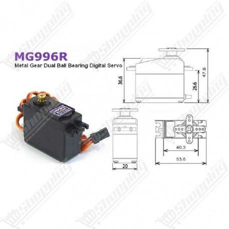 Servo moteur MG996 metal gear RC Servo High Speed & Torque