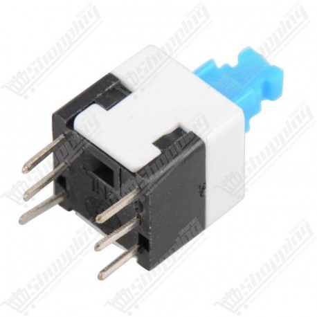 Boutton poussoir switch on off double 8x8mm 6 pins