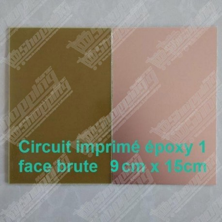 Circuit imprimé époxy cuivre pcb simple face 9cmx15cm