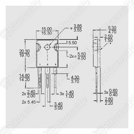 MOSFET N-MOS IRFP460A 500V 20A 280W TO-247