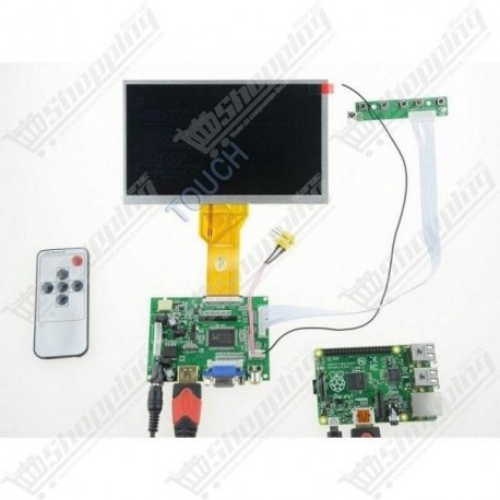 Kit LCD TFT 7inch + USB touch screen + control pannel