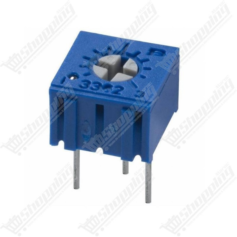 Potentiomètre multitours 100ohms 100R 101 3362W trimmer