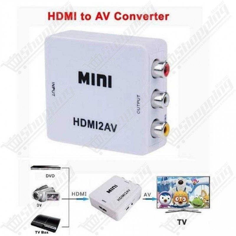 Convertisseur mini - HDMI to AV RCA audio et video