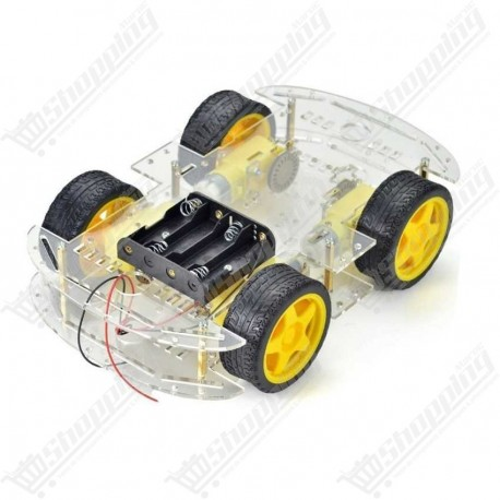 Kit motor robot car chassis 4 roues