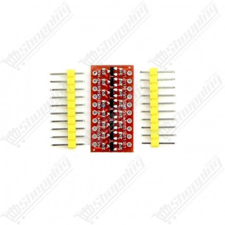 Module logic level converter bi-directional 4 channels 5v à 3.3v