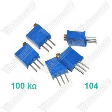 Potentiomètre ajustable 100K 104