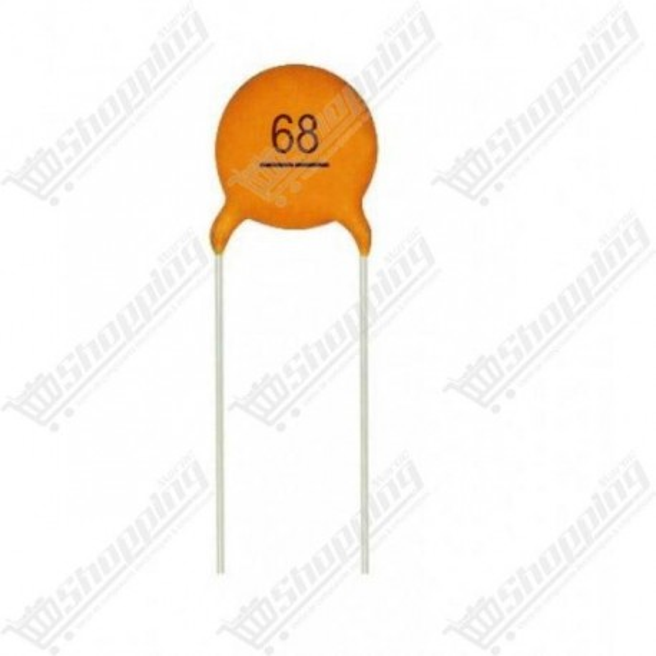 Condensateur céramique plaquette 68pf(68)