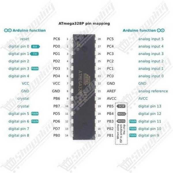 Atmel atmega328P-PU atmega328 avec bootloader DIP-28