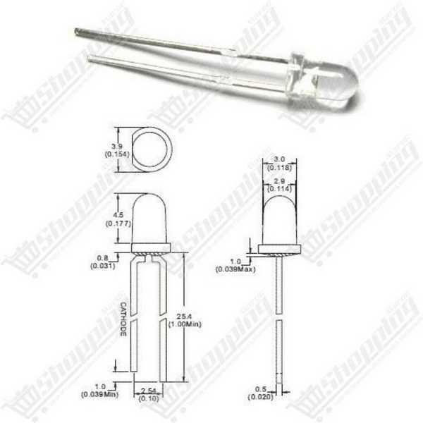 Led 5mm RGB transparent diode F5