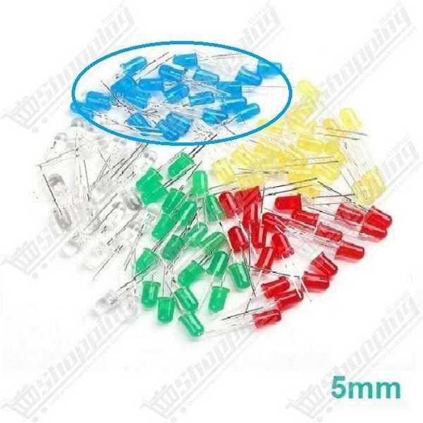 Led 5mm Round rouge-verte-bleu-jaune diode F5