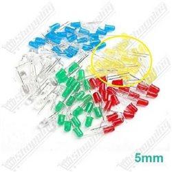 Led 3mm Round rouge-verte-bleu-jaune diode F3