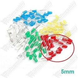 Led 5mm lumière blanche haute luminosité diode F5