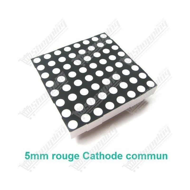 Matrice 60mm 8x8 led 5mm rouge cathode commun