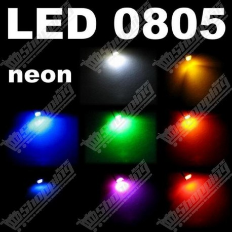 LED smd 0805 rouge jaune bleu verte orange