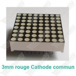 Matrice 32mm 8x8 led 3mm rouge cathode commun