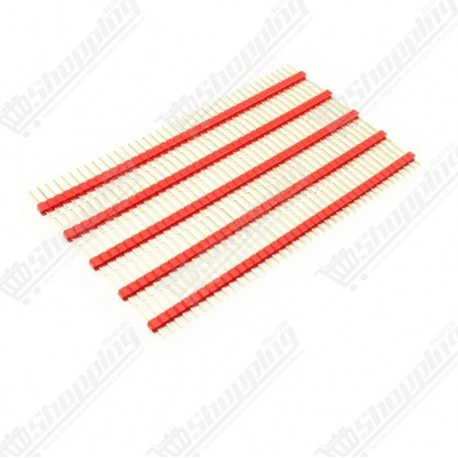 Header connecteur rouge 2.54mm 1x40 pin simple ligne mâle