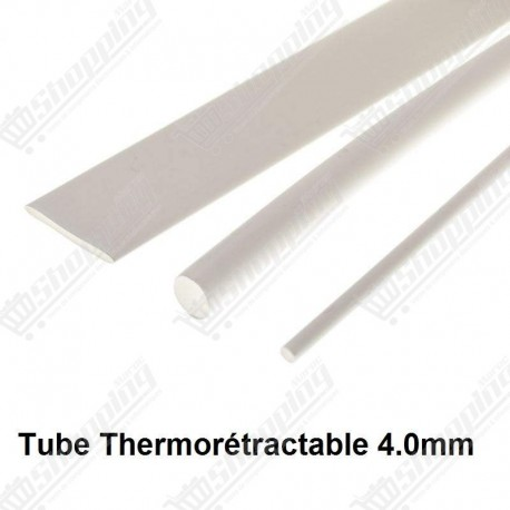 1ML tube thermorétractable blanc 4.0mm protection câble