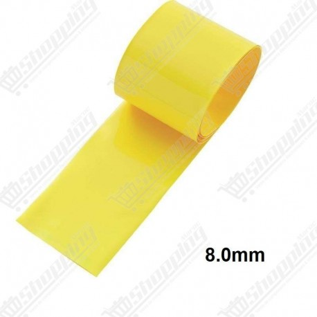1ML Tube thermorétractable jaune 8.0mm protection câble