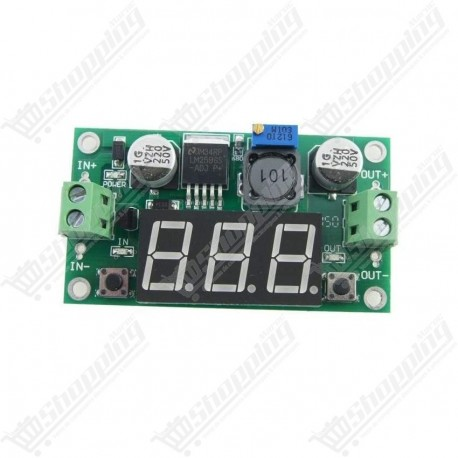 Alimentation réglable LM2596 DC - DC step down + Led voltmètre