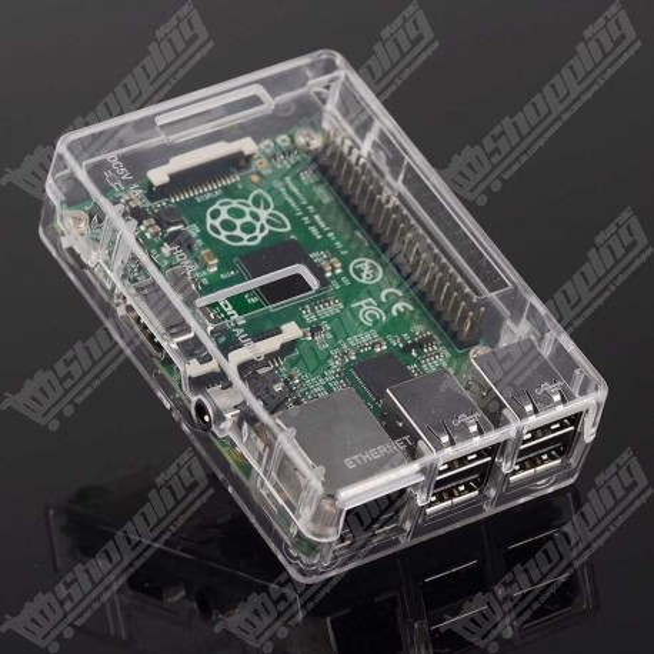 Boitier transparent ABS pour raspberry Pi Model B+ 2 et 3 + 3 heat alluminium