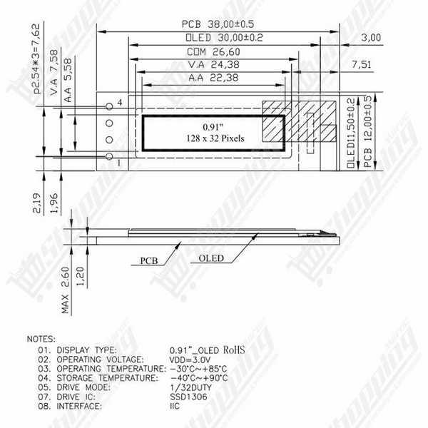 Module TM1638 afficheur 8 chiffres (7 segments), leds et bouttons