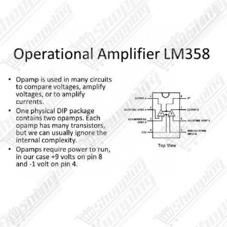 IC LM358 dual operational amplifier amplificateur DIP-8