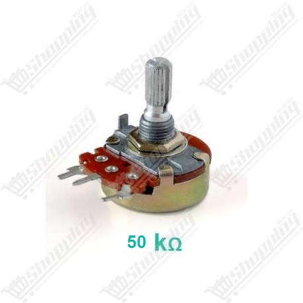 Potentiomètre 50K linéaire 15mm avec écrous et rondelles