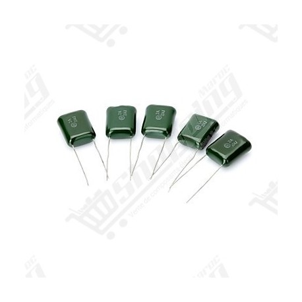 Condensateur polyester film 100V 2A 31valeurs (220pF-220nF)