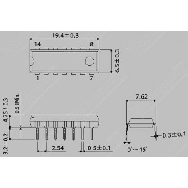 IC CD4066 4066 DIP-14