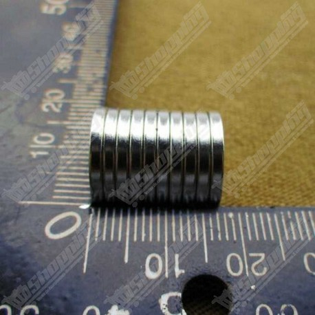 1 Pièce Aimant puissant neodymium N50 rond 15mm x 2.00mm