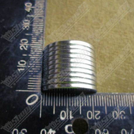 1 Pièce aimant super puissant neodymium N52 rond 20mm x 2mm