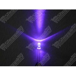 Led 3mm Ultra Violet UV 395-410NM diode F3