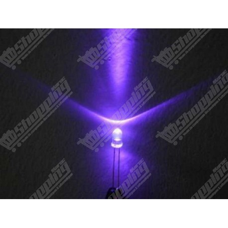 Led 3mm Ultra Violet UV 395-410NM diode F3