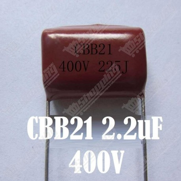 Condensateur CBB CBB21 métallisé polypropylene film 2.2uF 225J 400V Haute Fréquence