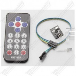 Kit récepteur infrarouge IR HX1838 avec télécommande
