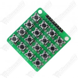Clavier 4x4 matrice 16 bouttons 8 pins