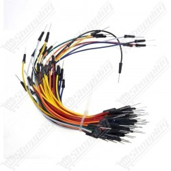 Kit 65 Fils cable Mâle / Mâle rond de plusieurs longueurs
