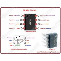 IC TL081 amplificateur operationel DIP-8