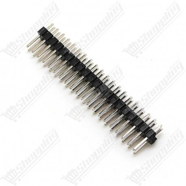 Header connecteur 2.54mm 2x20 pins double ligne male