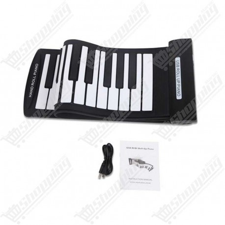 Clavier piano portable 61 touches flexible usb midi
