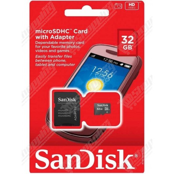 Carte mémoire SanDisk 32Go class 10 microSD