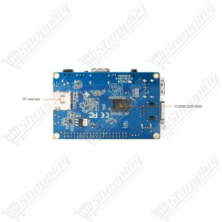 Orange Pi PC Plus Cortex-A7 quad-core 1.6Ghz Ram 1Go Emmc 8Go Android integre
