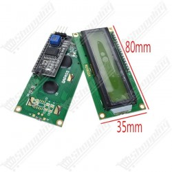 LCD 16x02 1602 avec I2C affichage vert 5v
