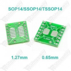 Adaptateur SSOP14 TSSOP14 SOP14 to DIP-14 1.27mm 0.65mm