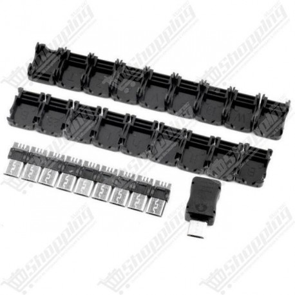 Micro usb 5 Pins T port mâle plug + Plastic cover